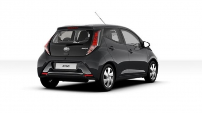 Toyota AYGO x-play Navigator Charcoal Grey achterkant