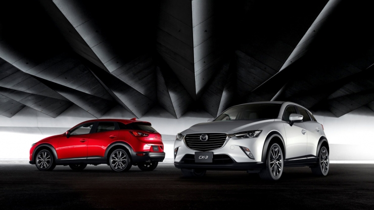 Mazda cx-3 rood wit