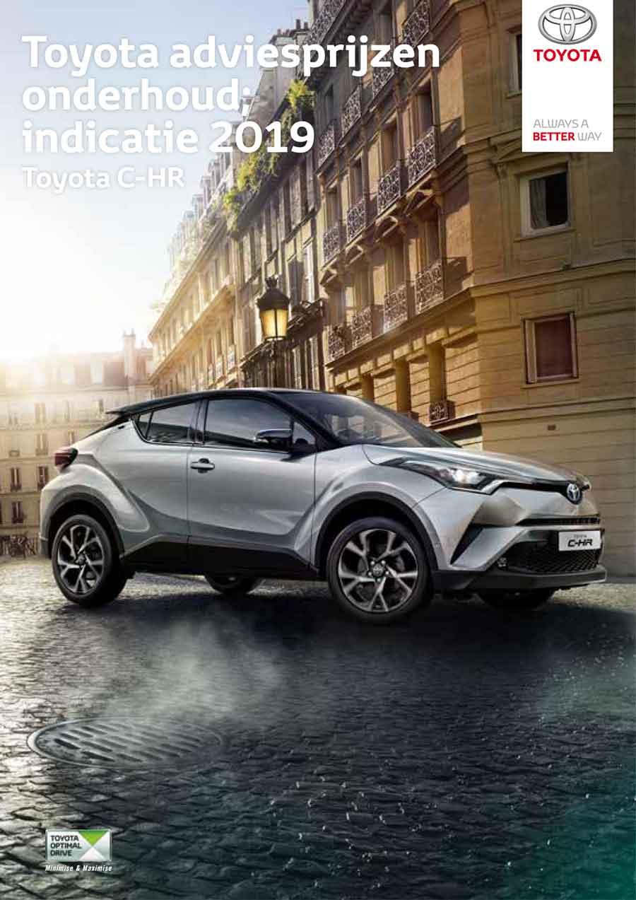 Toyota C-HR onderhoudsprijzen bouwjaar vanaf 2019