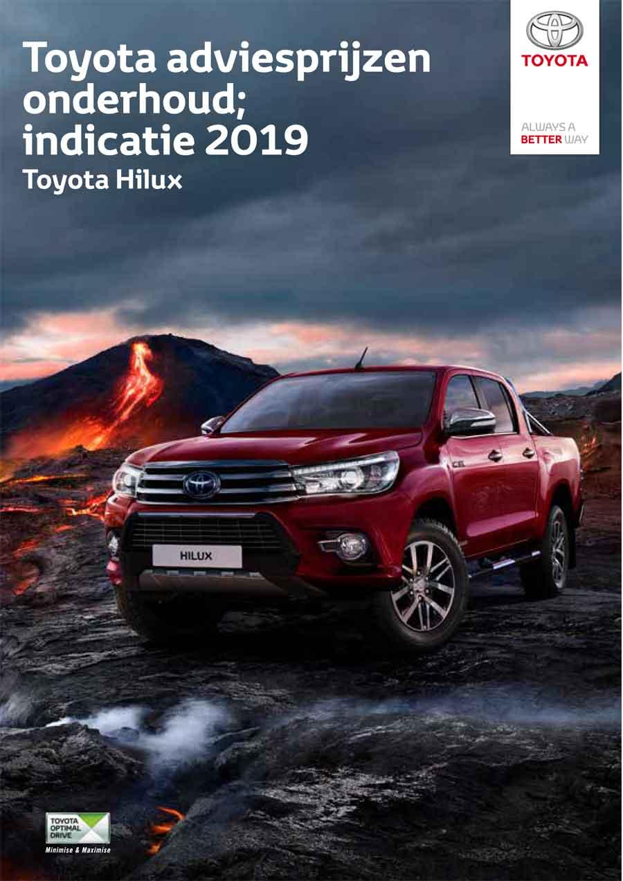 Toyota Hilux onderhoudsprijzen 2019