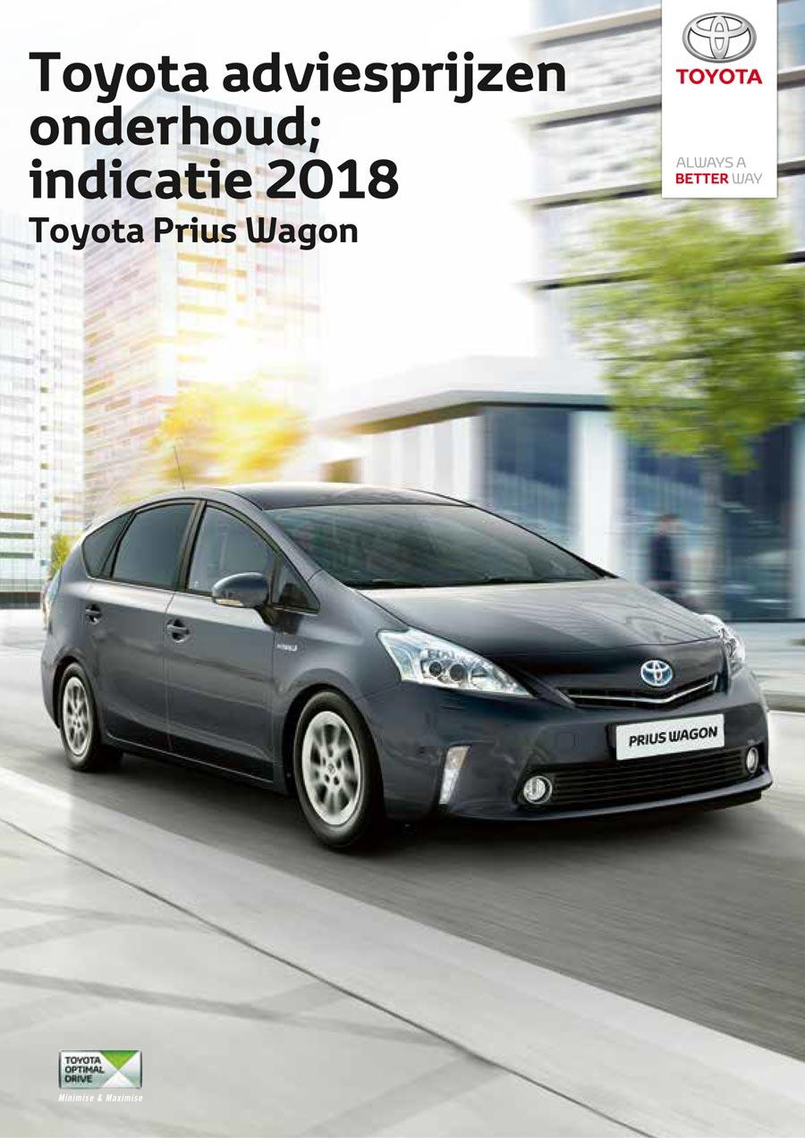 Toyota Prius Plus 2009 onderhoudsprijzen