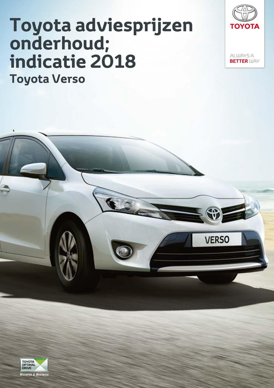 Toyota Verso onderhoudsprijzen bouwjaar vanaf 2009