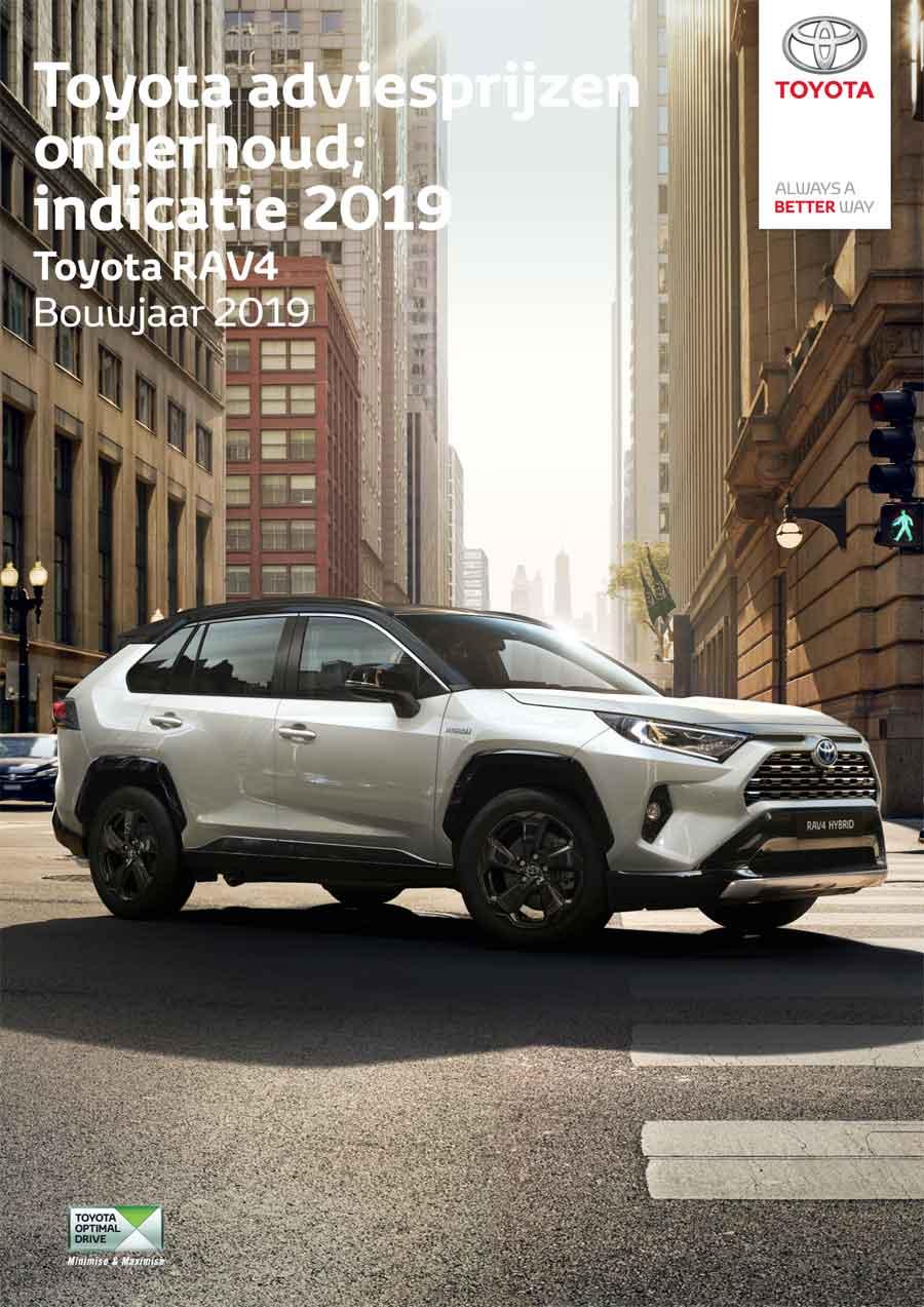 Toyota Verso 2014 onderhoudsprijzen 2018