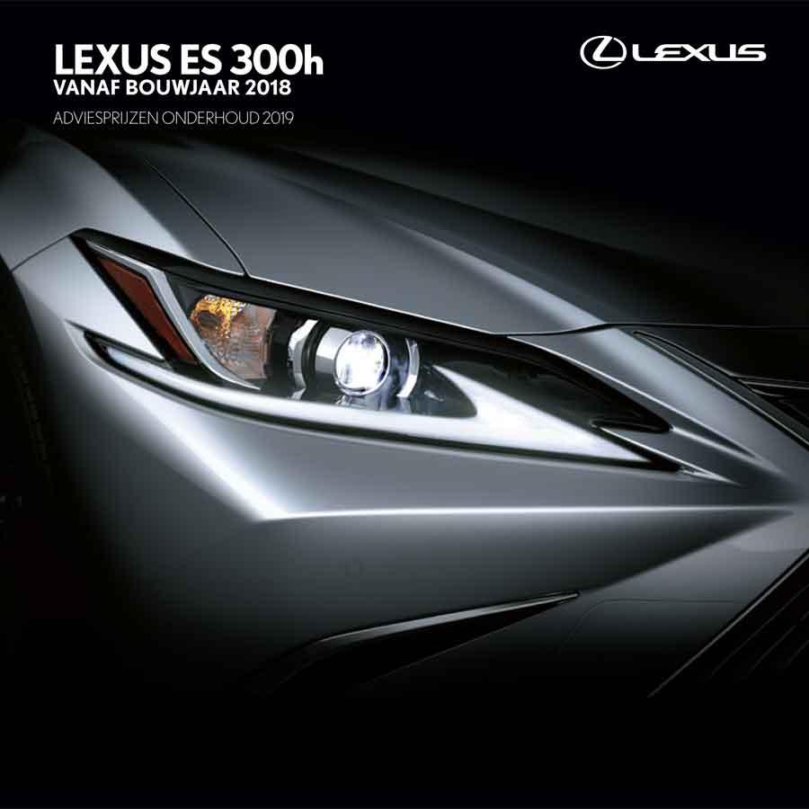 Lexus ES onderhoudsprijzen 2019