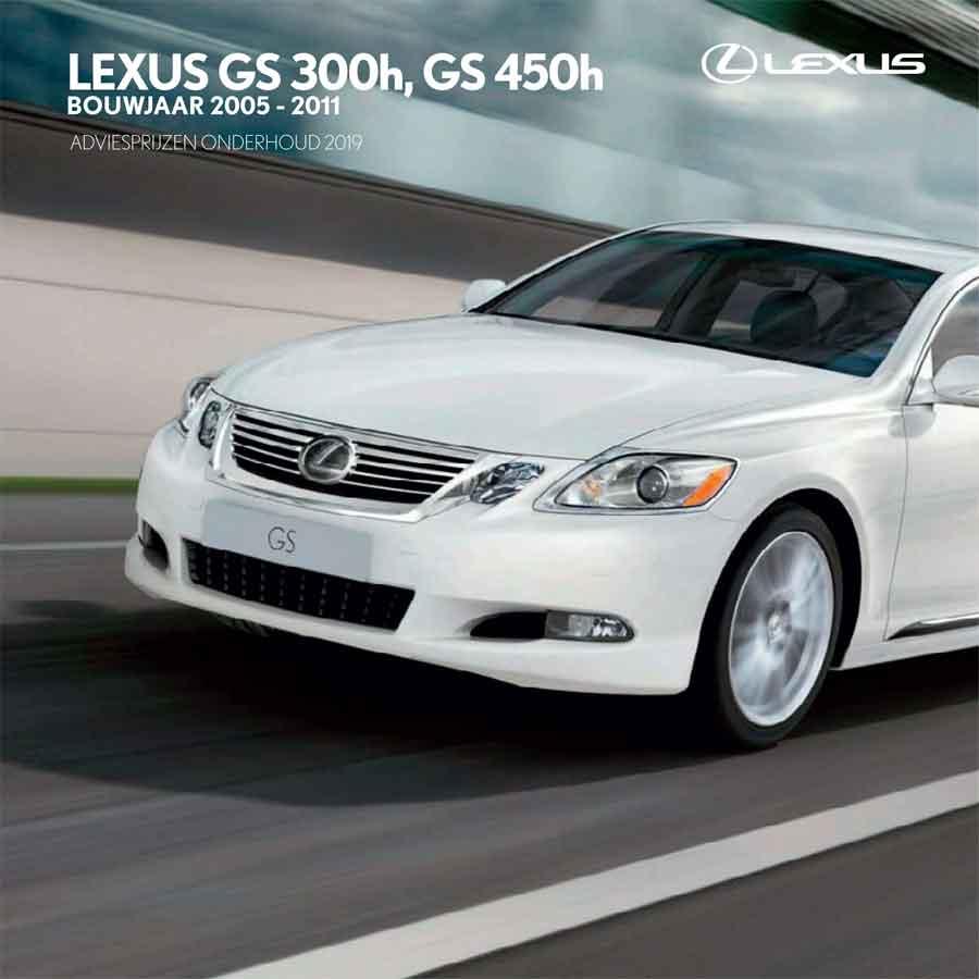 Lexus GS 300 GS 450 onderhoudsprijzen 2019
