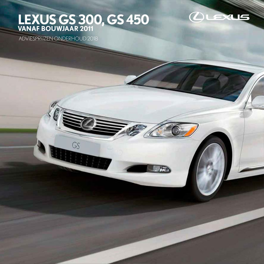 Lexus GS 300 GS 450 onderhoudsprijzen 2018