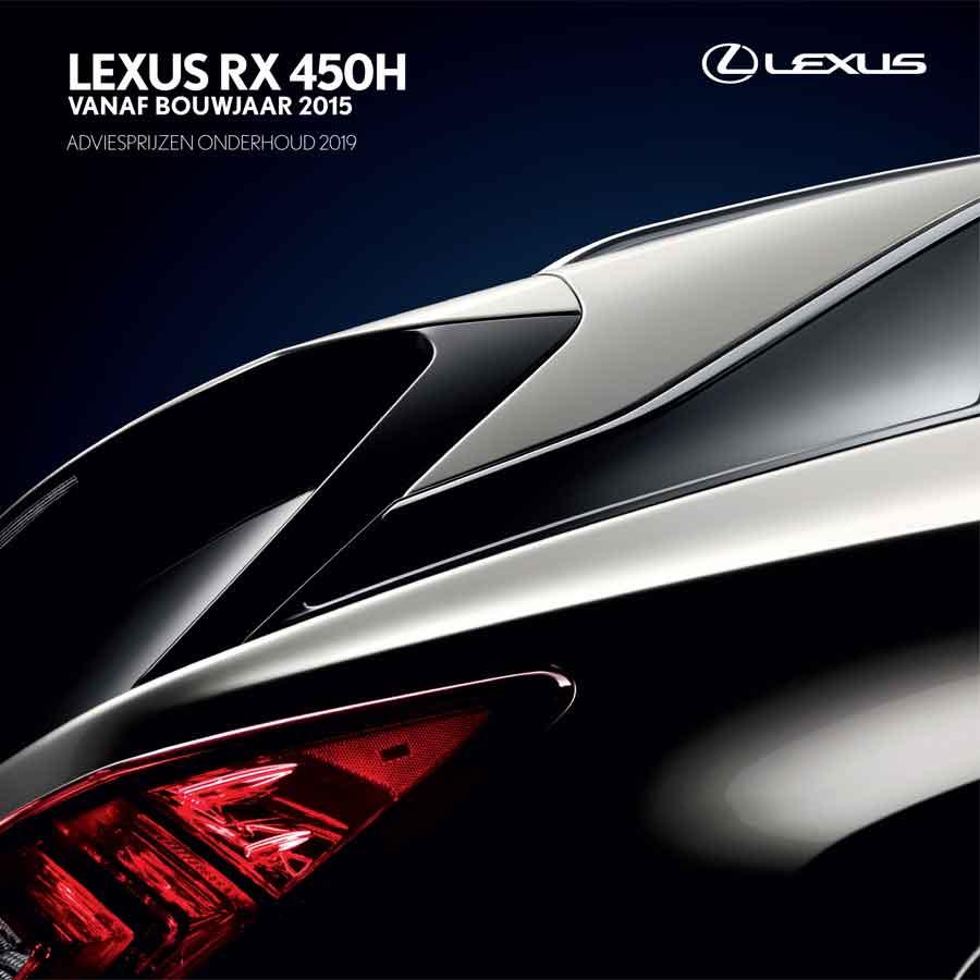 Lexus RX onderhoudsprijzen 2019